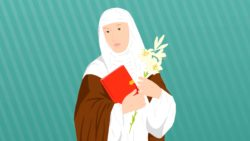 ilustración de santa catalina de siena