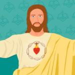 Ilustración del Sagrado Corazón de Jesús